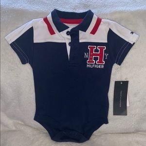 Tommy Hilfiger baby onesie.